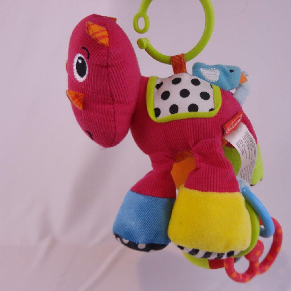 pink infantino hippo rattle stroller car seat toy goodbye toys. Black Bedroom Furniture Sets. Home Design Ideas